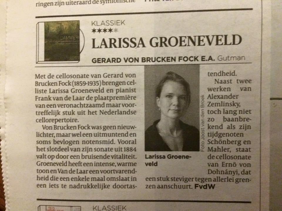 review in Volkskrant 9-12-15, ****