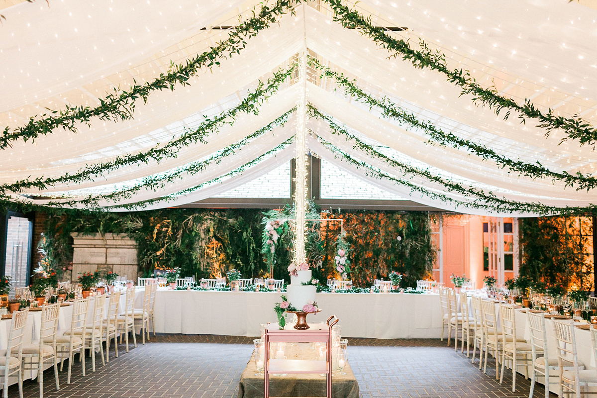 Wedding stationery and venue styling with modern calligraphy