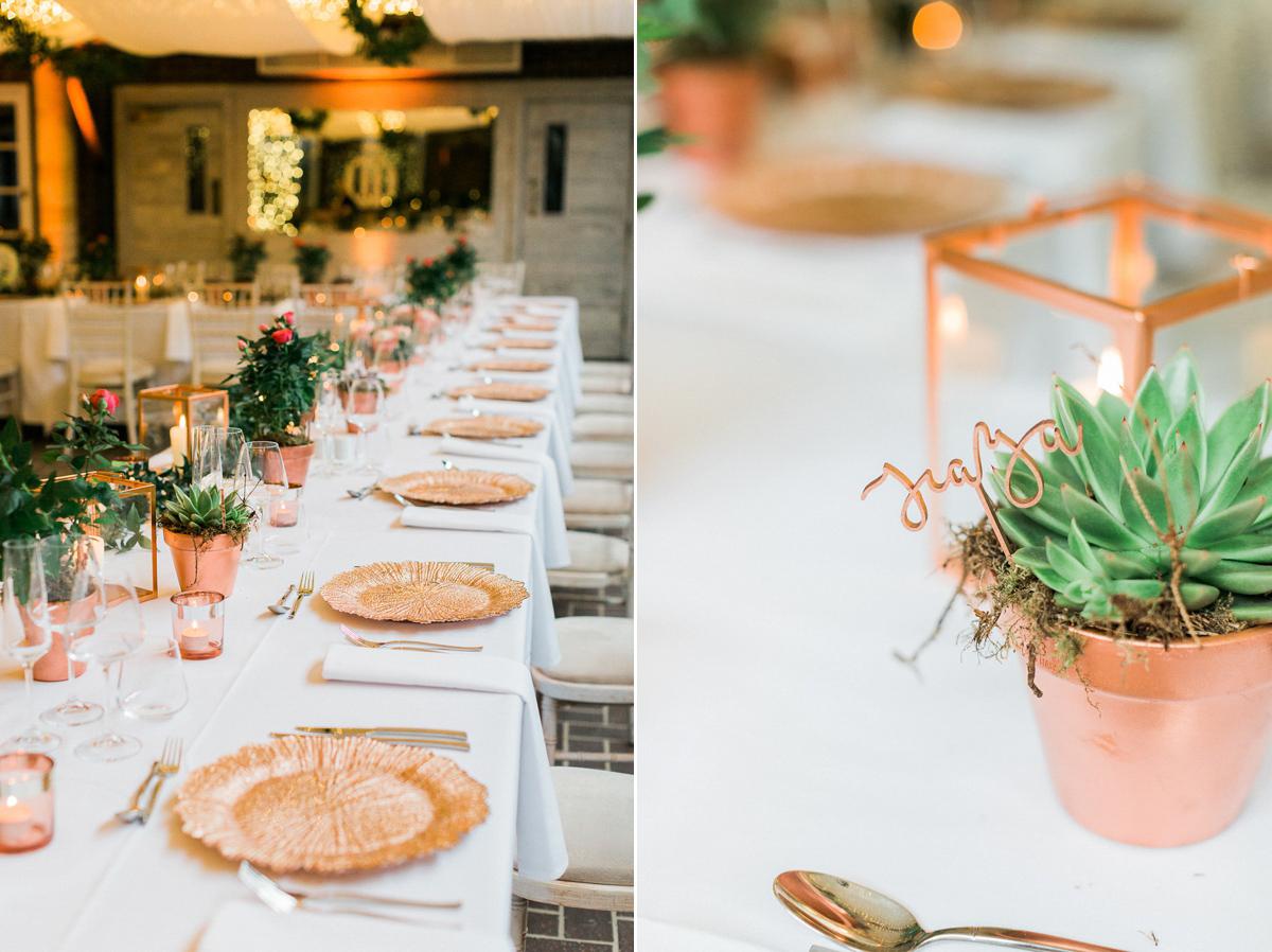 Table settings for weddings