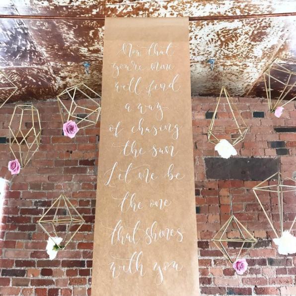 wedding scrolls and styling