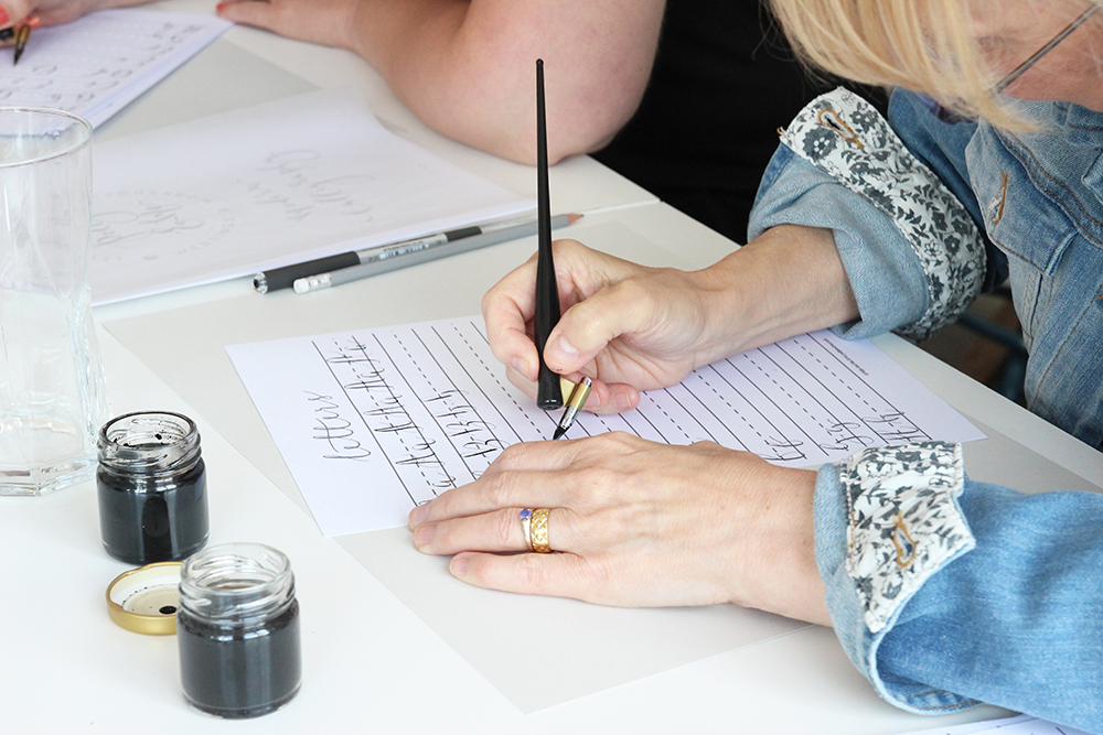 learn modern calligraphy with polly and me