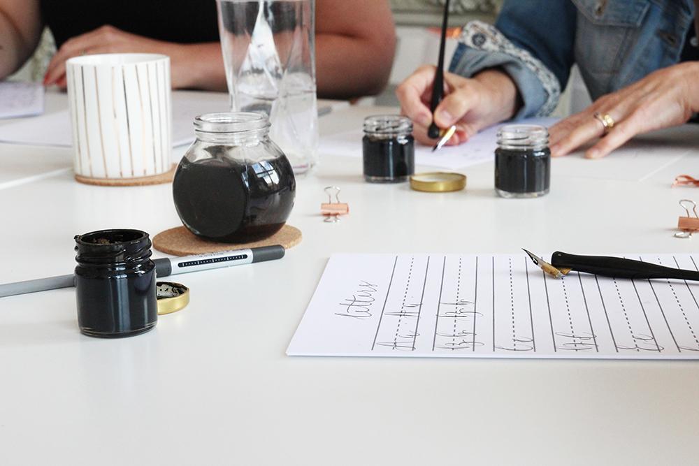 Modern calligraphy workshops in Derbyshire