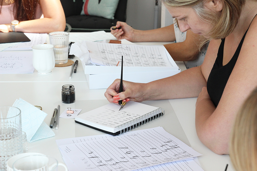Modern calligraphy workshops with polly and me