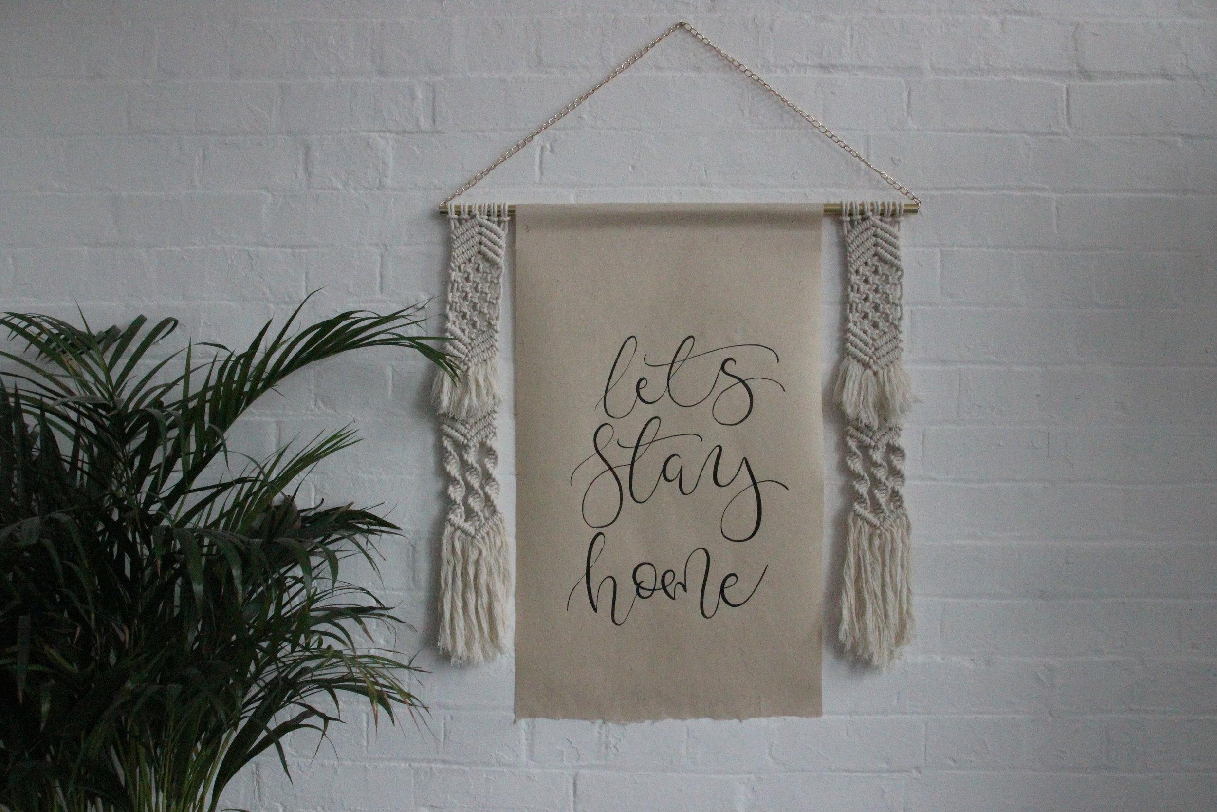 Personalised quote artwork