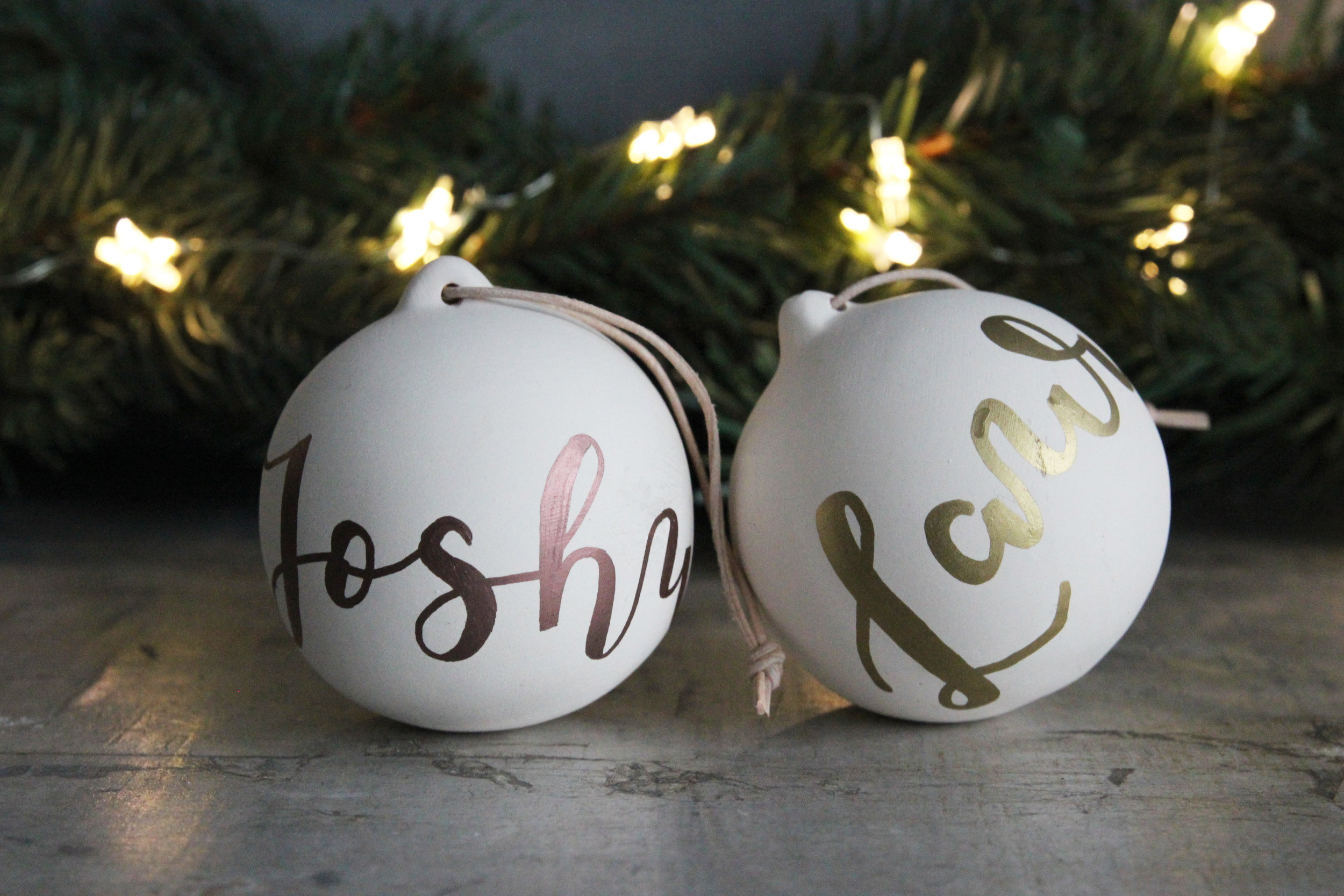 Hand illustrated baubles