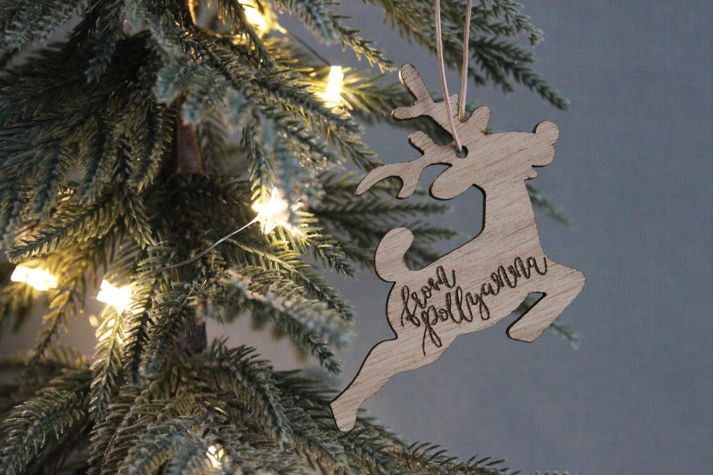 Christmas laser cut tags