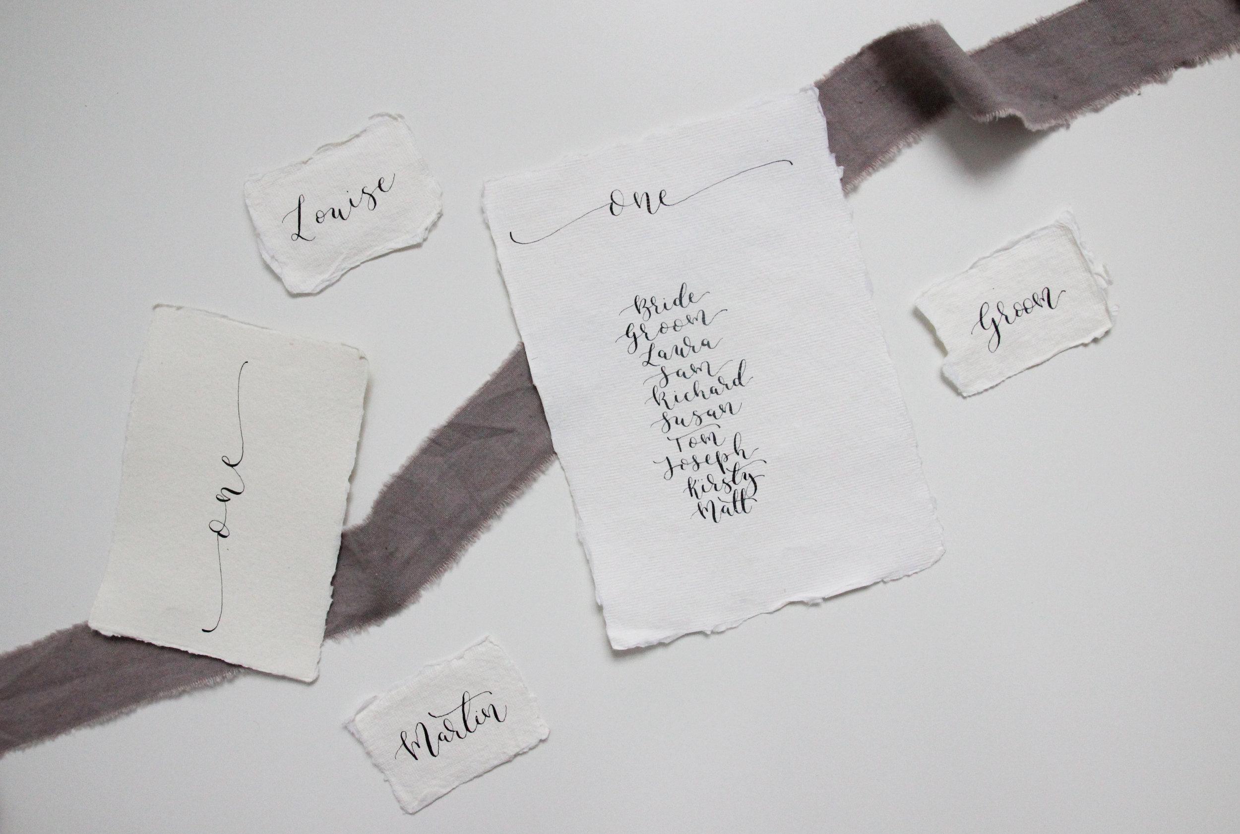 modern calligraphy wedding stationery