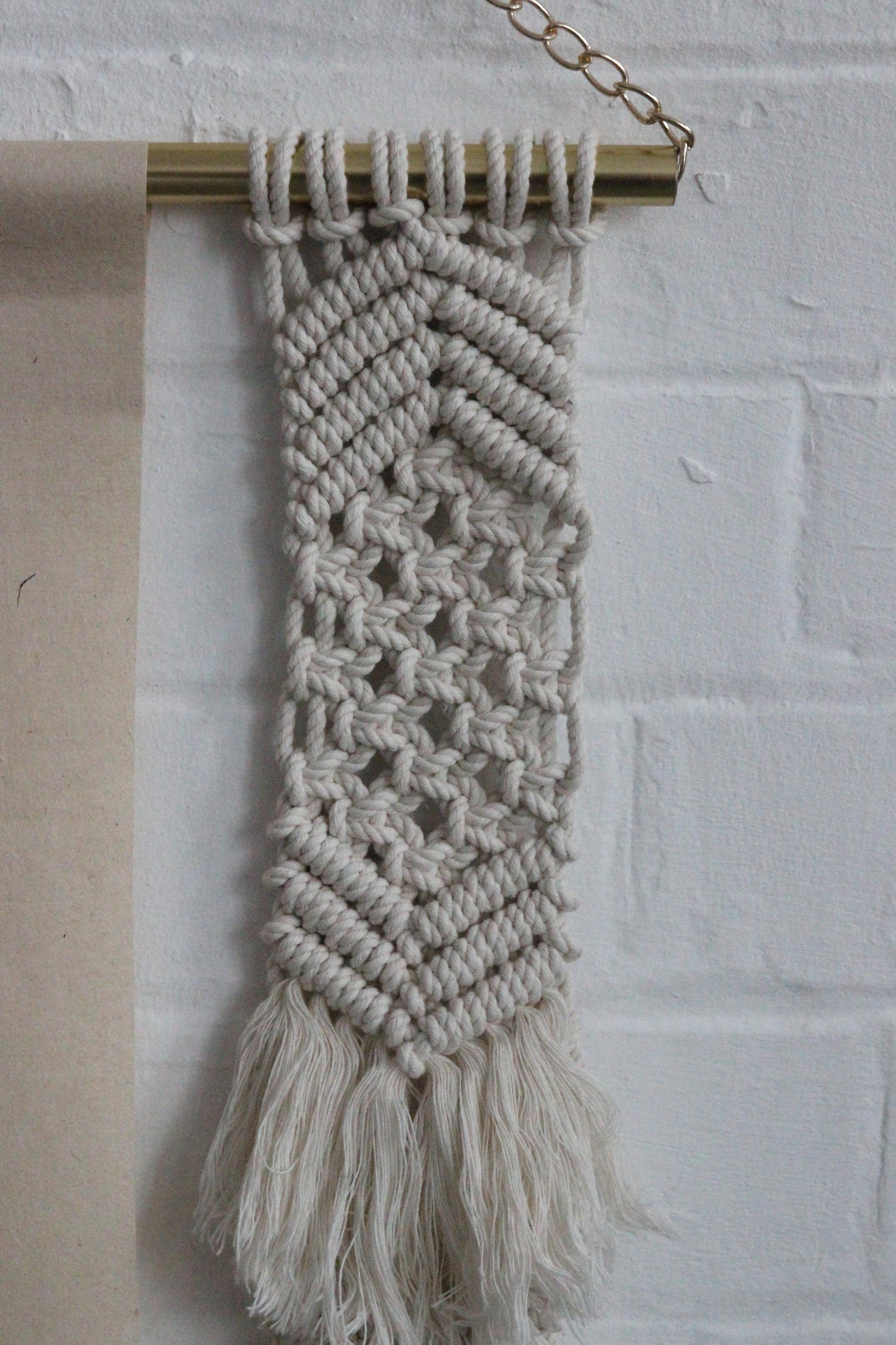 Macrame Detail wall hangings