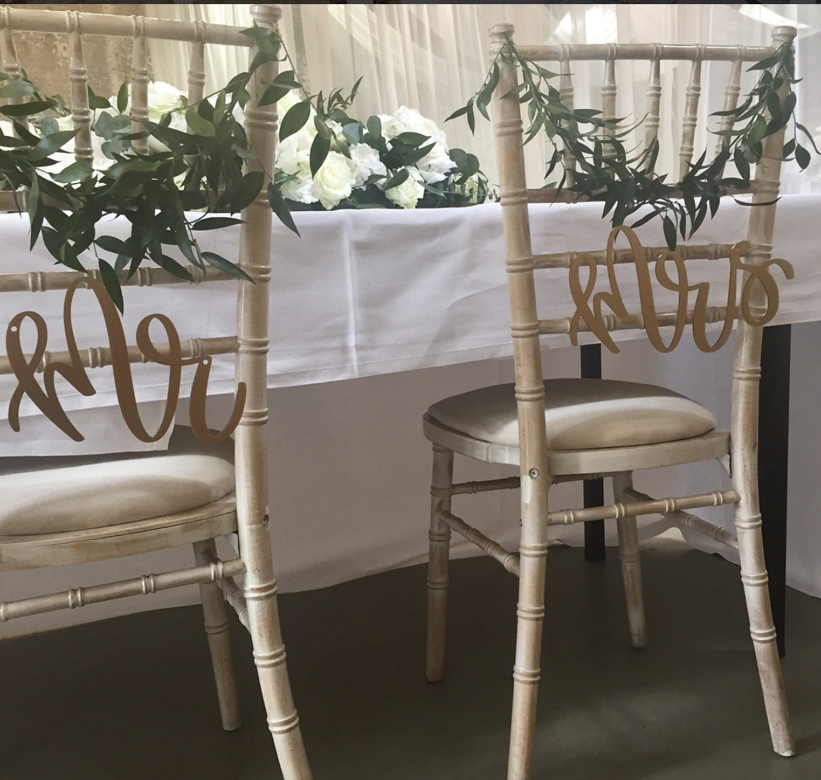 Wedding chair signage