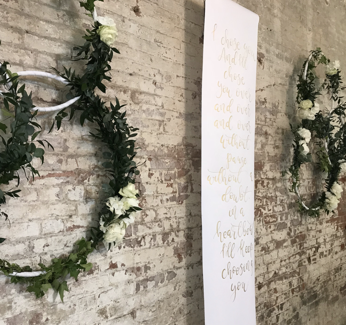 scroll banners for weddings
