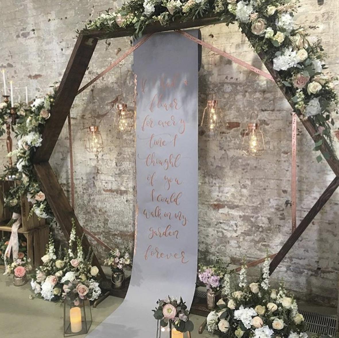 Scrolls signage for weddings