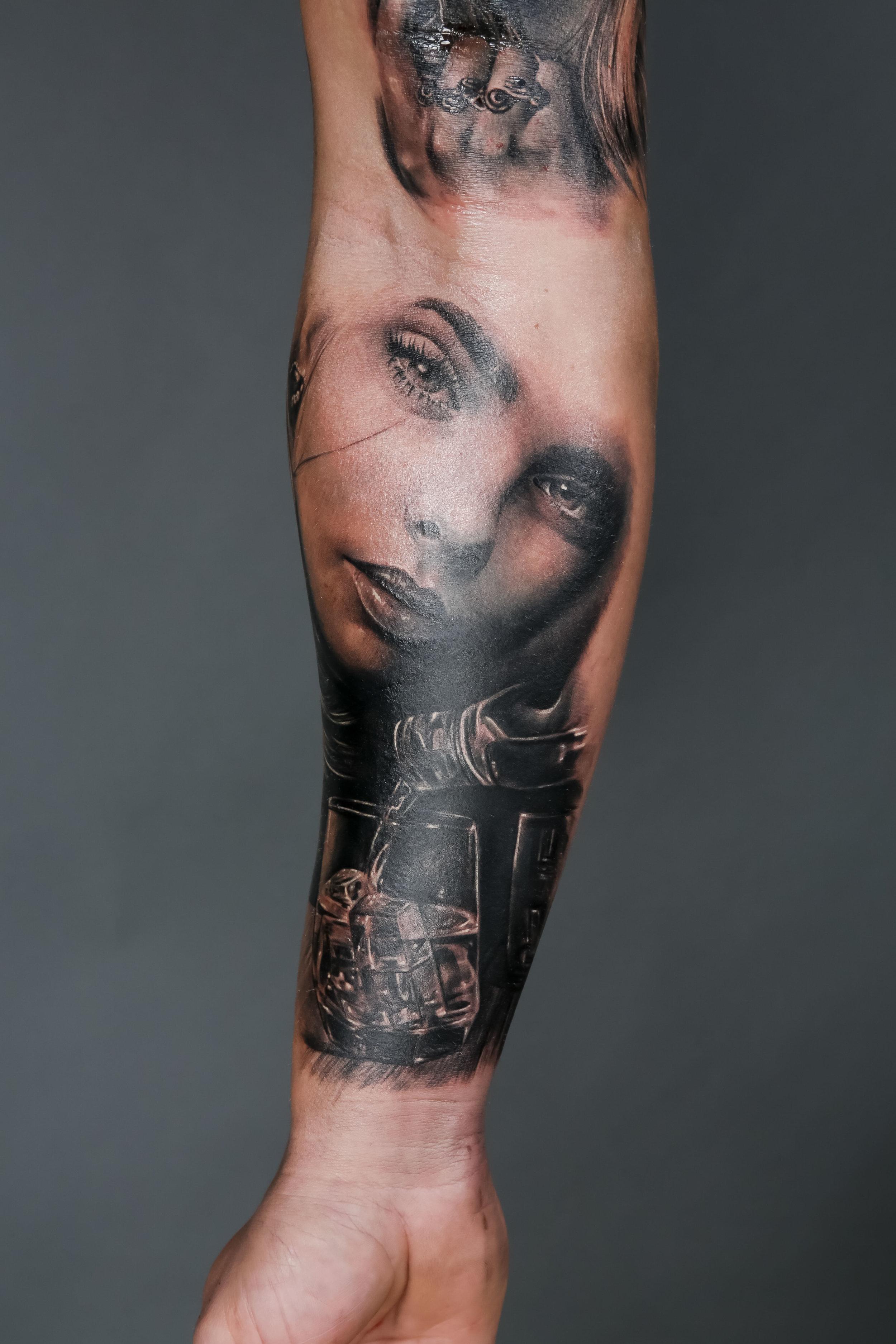 Realism Runner-Up by Brigi Fuzes, Diamond Heart Tattoo