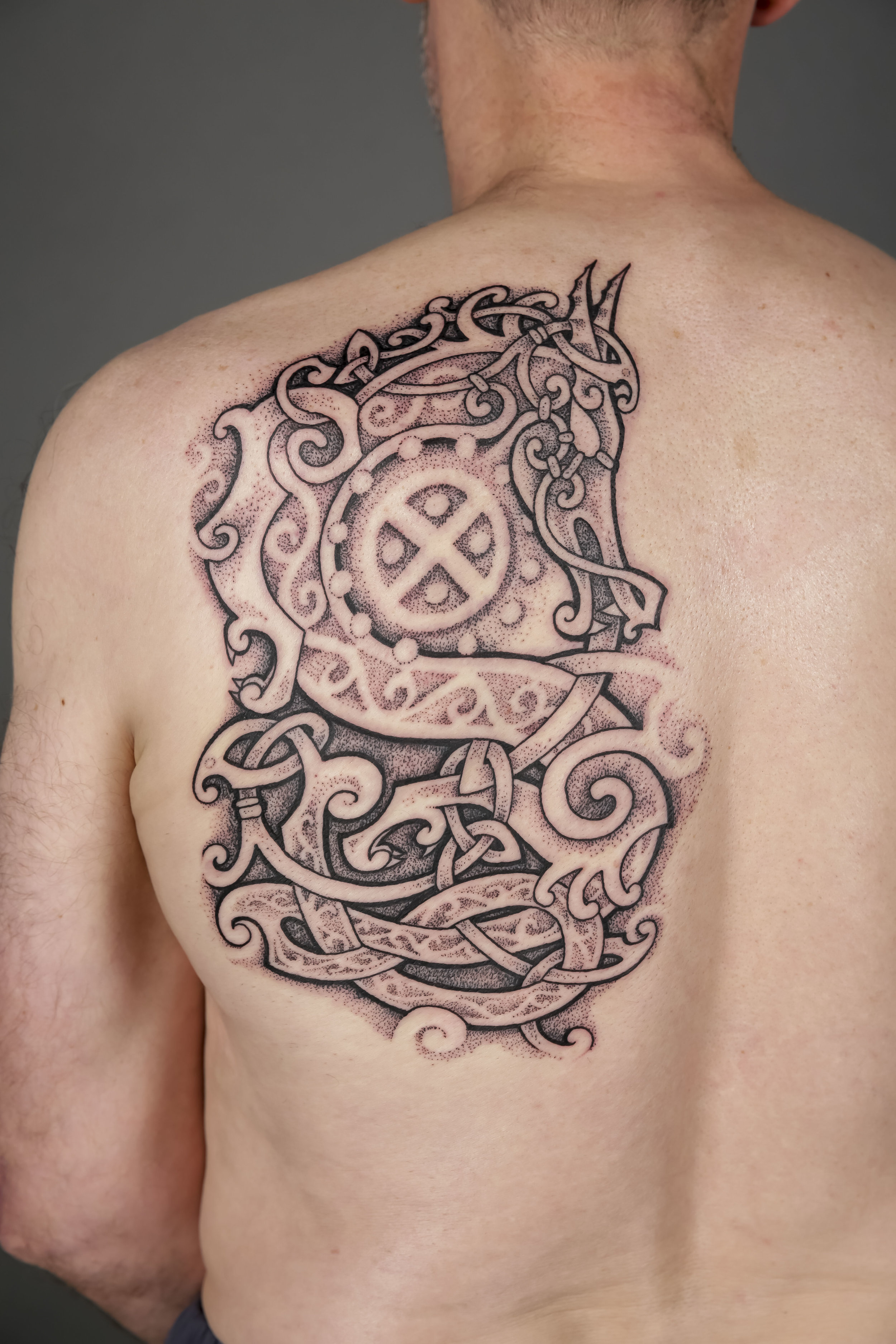 Blackwork Winner by Fiumix and Quila Tattoo