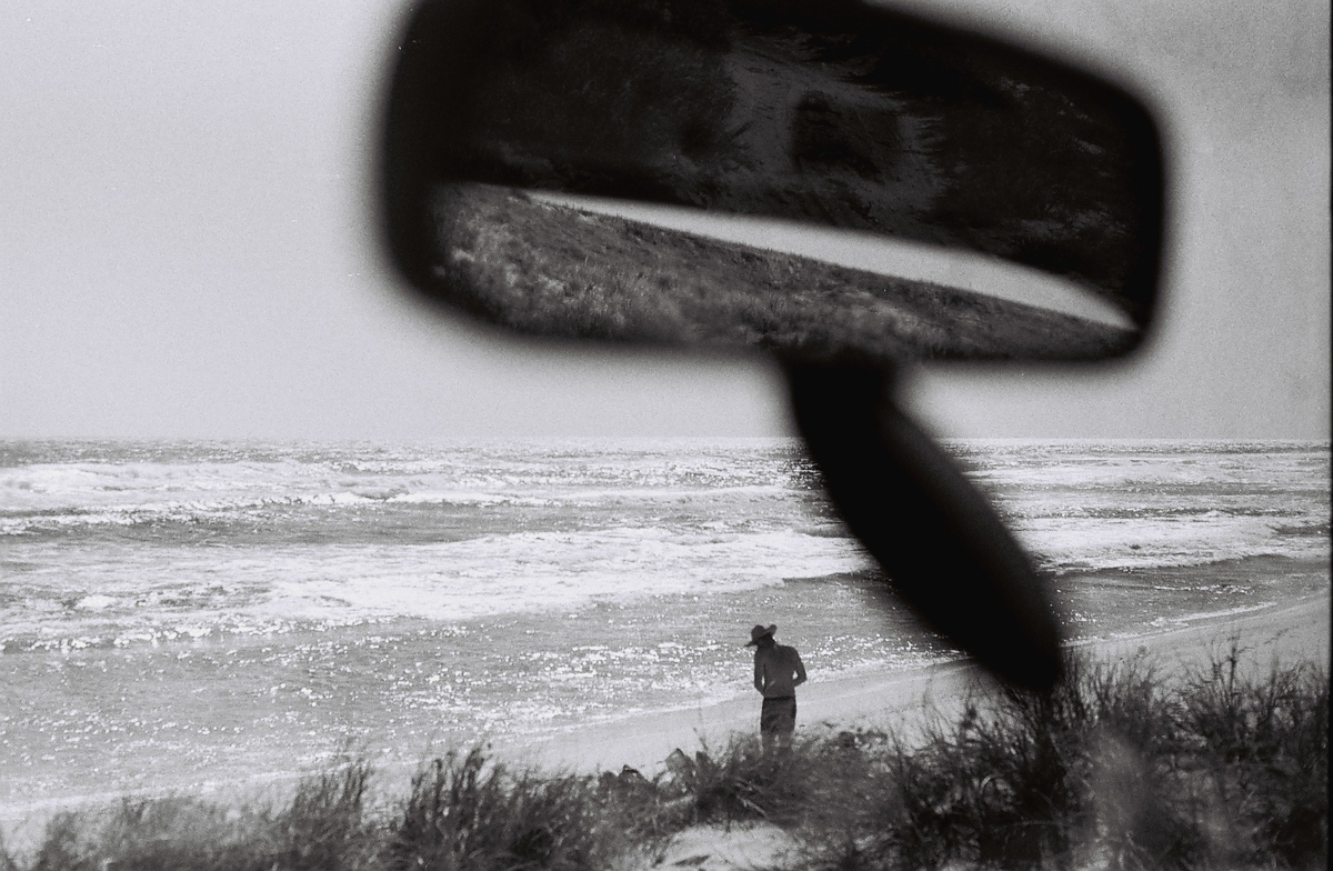 Dust in the rearview.  17 Mile Beach, Quobba Station.