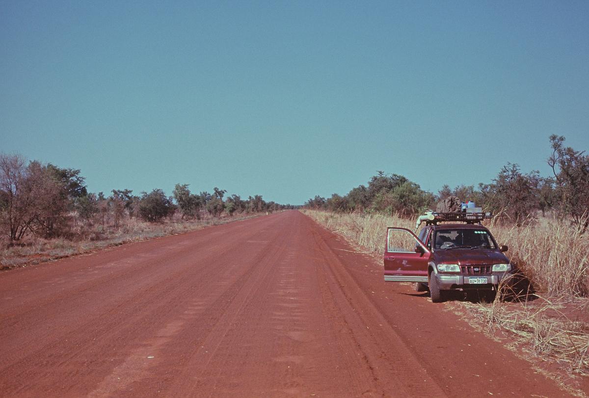 The long dusty trail. Kia Sportage in the West Kimberley.