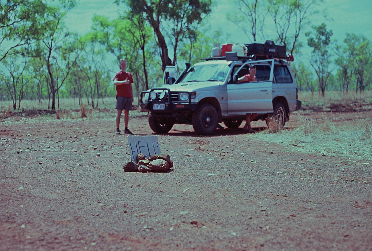 German backpackers, stranded. Central Kimberley.