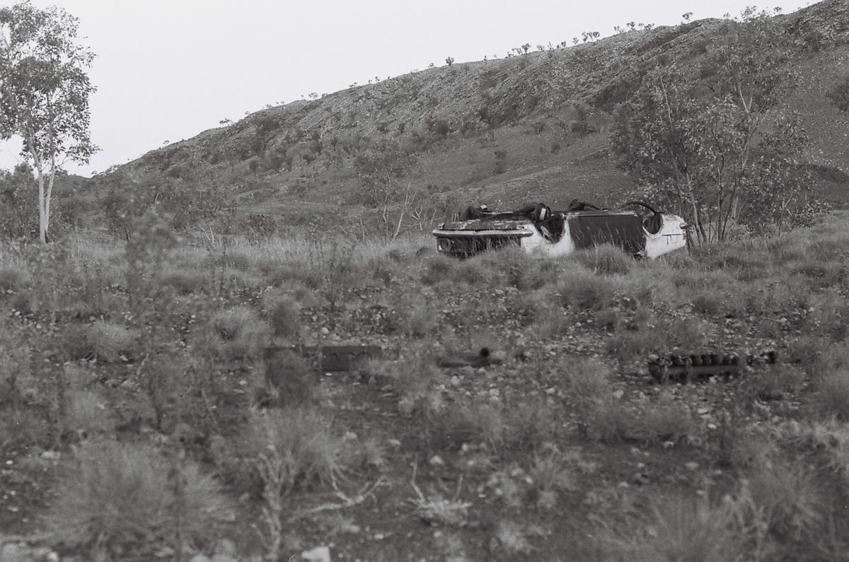 Abandoned car, Tanami Desert, East Kimberley.