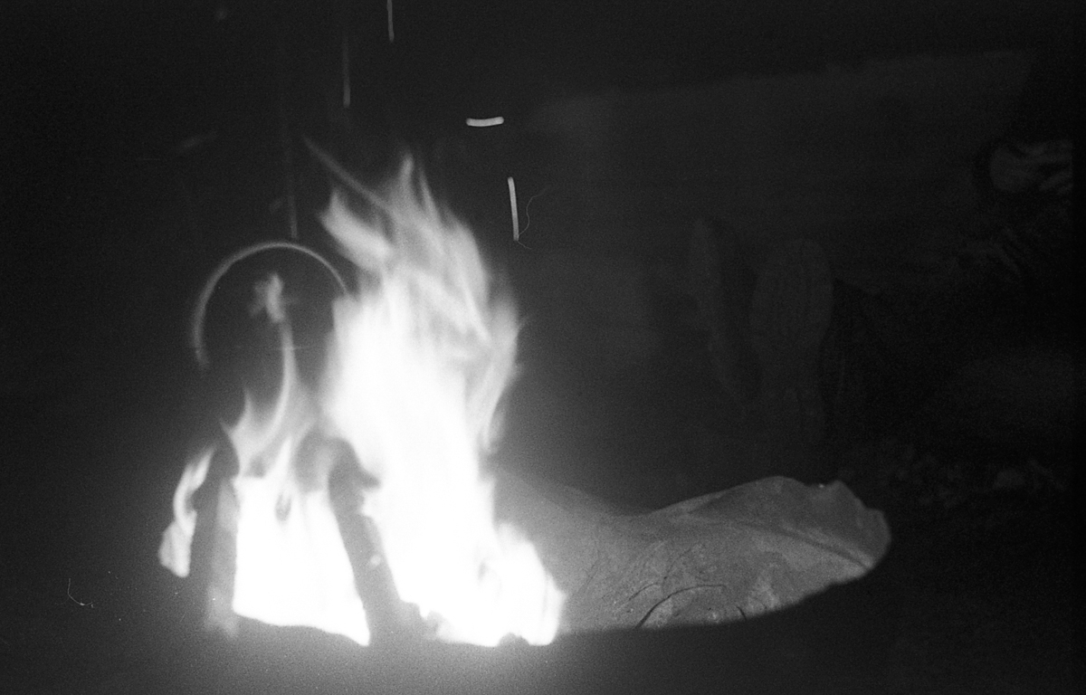 A nightly ritual. Nice when it's warm, but not so fun when it's raining and there's no kitchen to cook in.