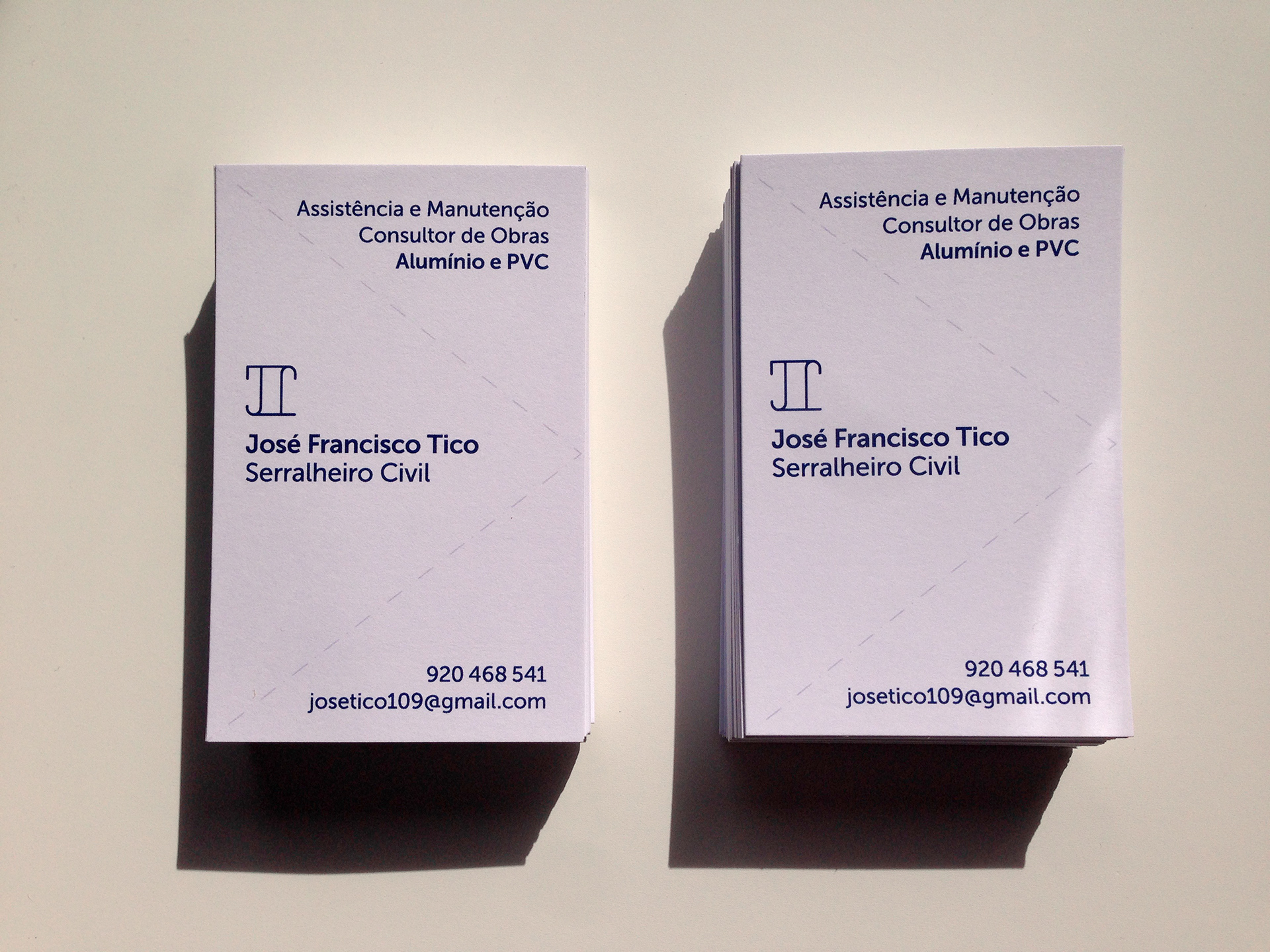 Business cards for José Tico (my father).