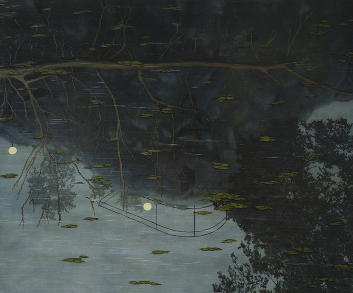 2. 'Moon Lights' (2012) Oil on aluminium 50x60cm Covadonga Valdes.jpg