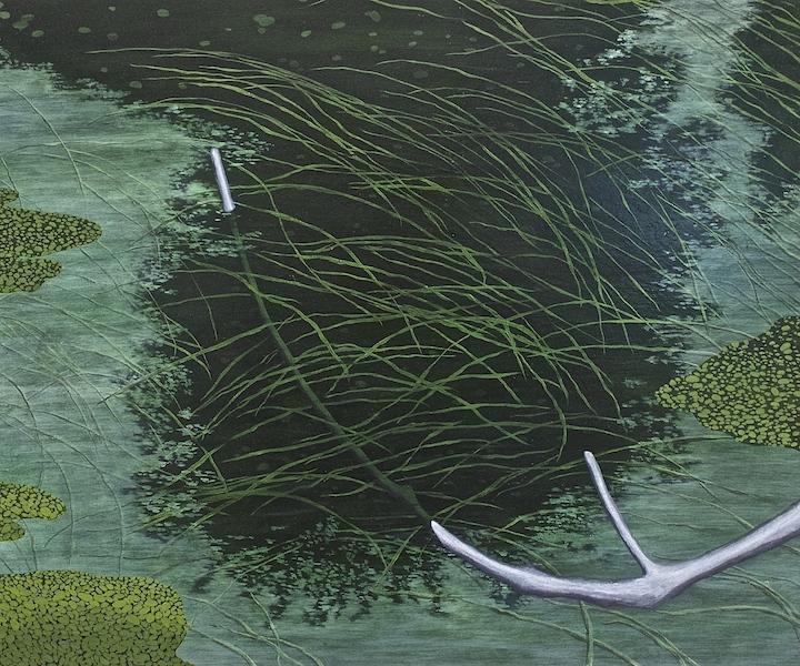 8. 'Vascular, fishing' (2015) 50x60cm Oil on aluminium. Covadonga Valdes.jpg