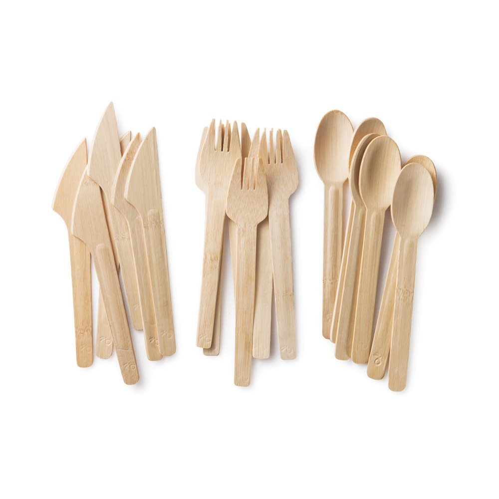 Bamboo utensils, a favorite of mine when entertaining the kids.
