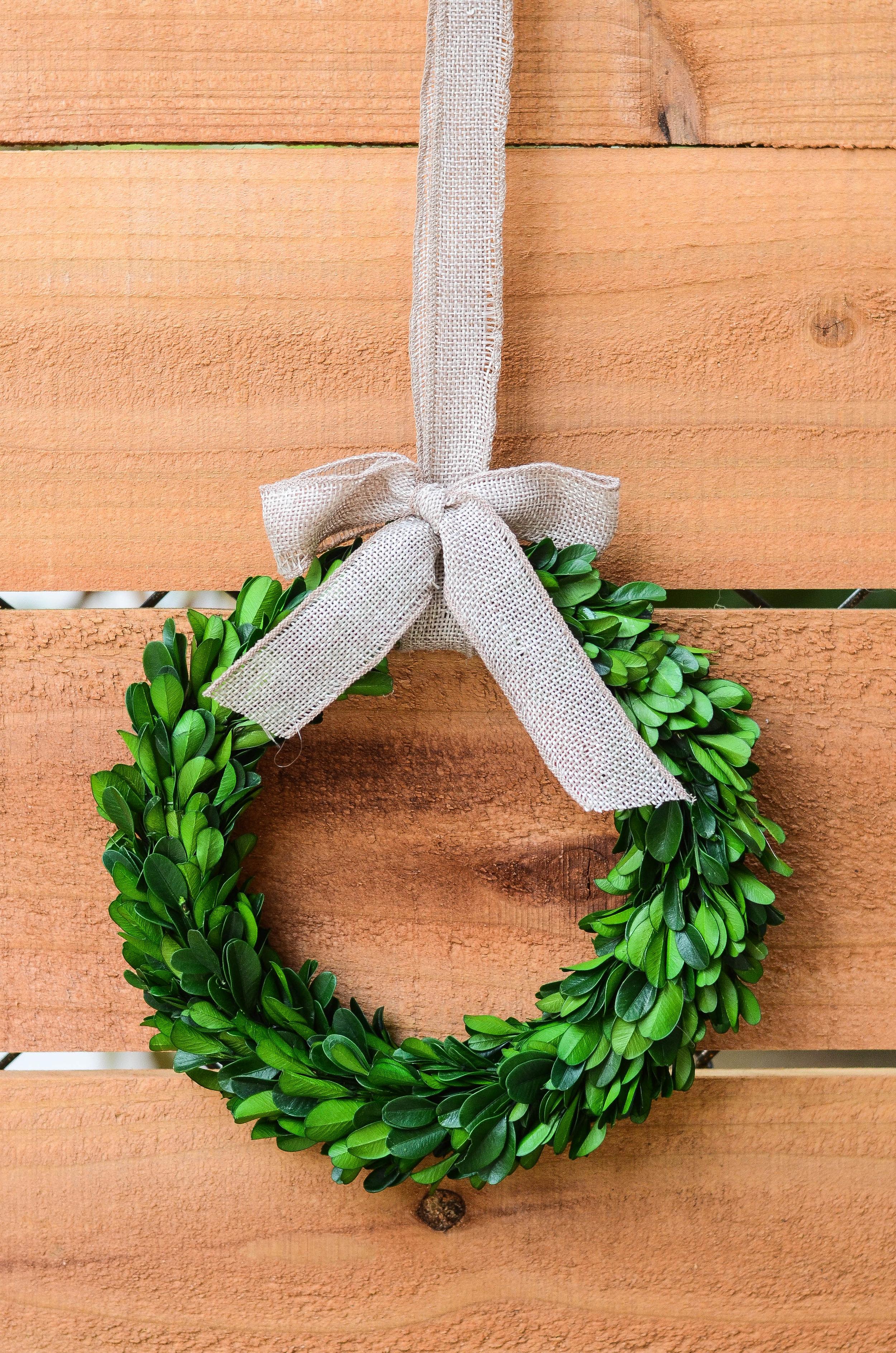 Mini Boxwood Wreath