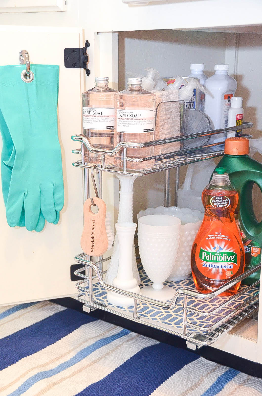Organize Under Sink Storage Iron Twine