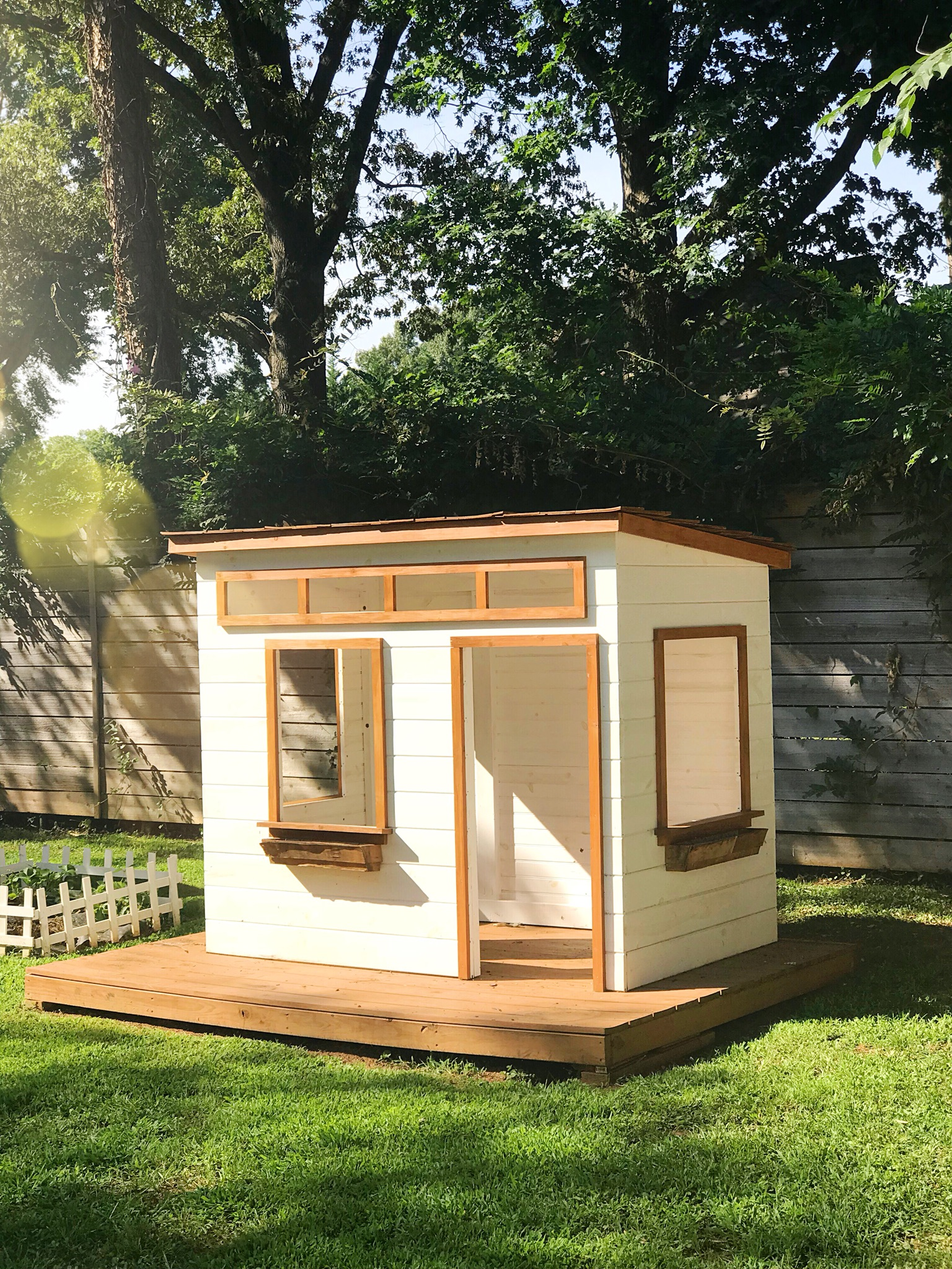 Modern Playhouse Makeover Before