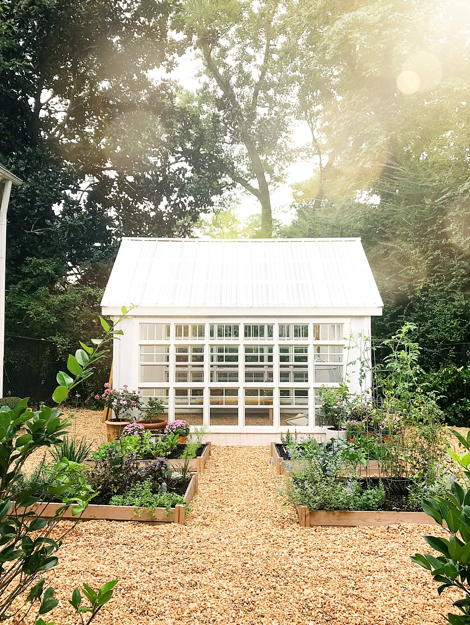 Greenhouse Kit : Found   Here   | We painted ours  Simply White  by Benjamin Moore