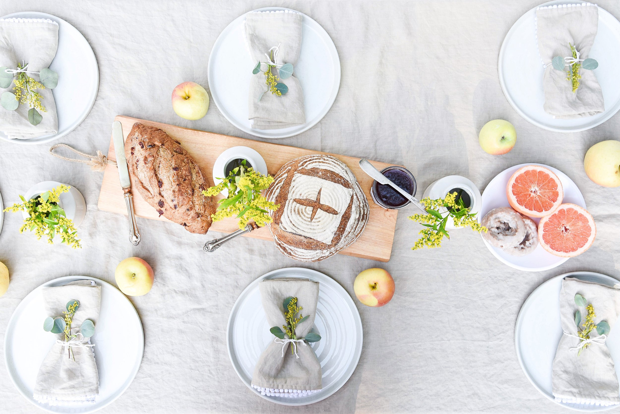 Weekend Brunch With Magic Linen | Styled & Photographed by Michelle Cannon Smith