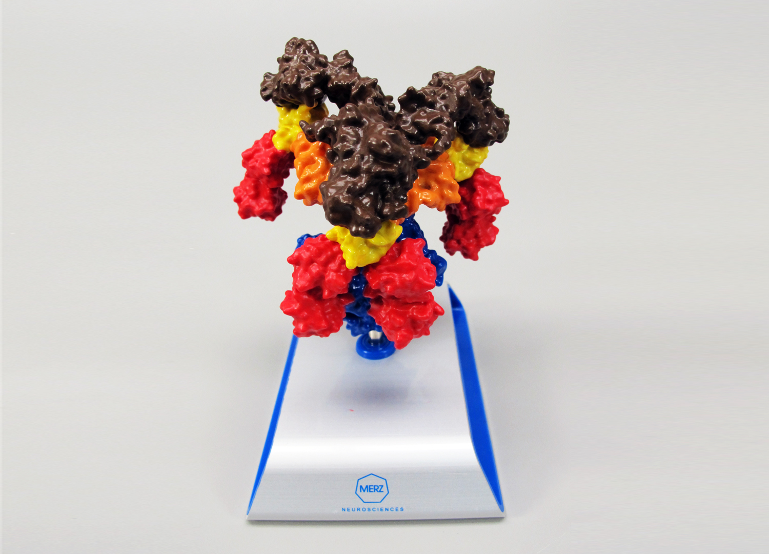 Molecular Structure Models - Molecular structures come to life with a 3d print. Print your drug compound and make a mainstay for a desk with your logo on it.