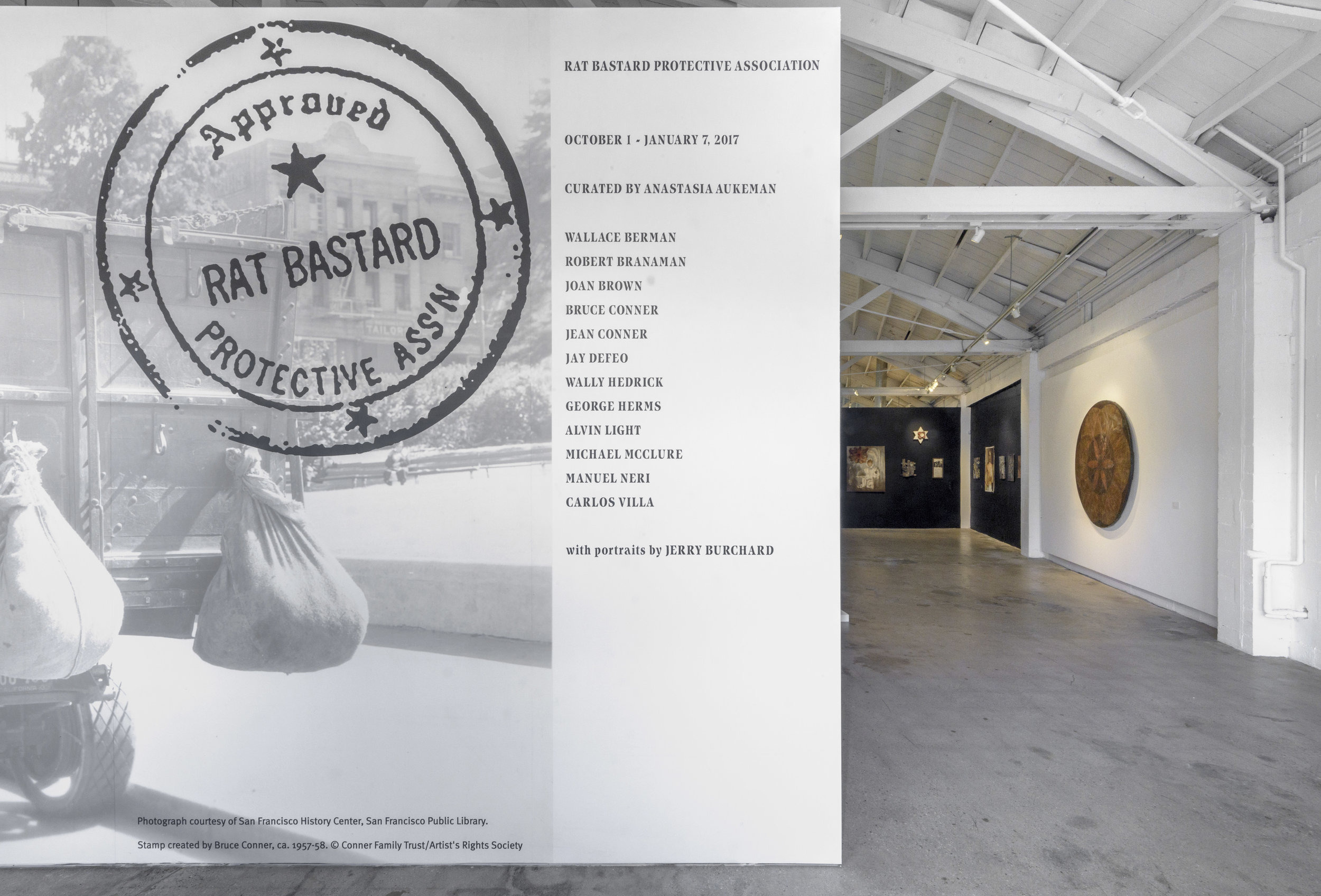 Installation view, Rat Bastard Protective Association, the Landing, 2016-2017