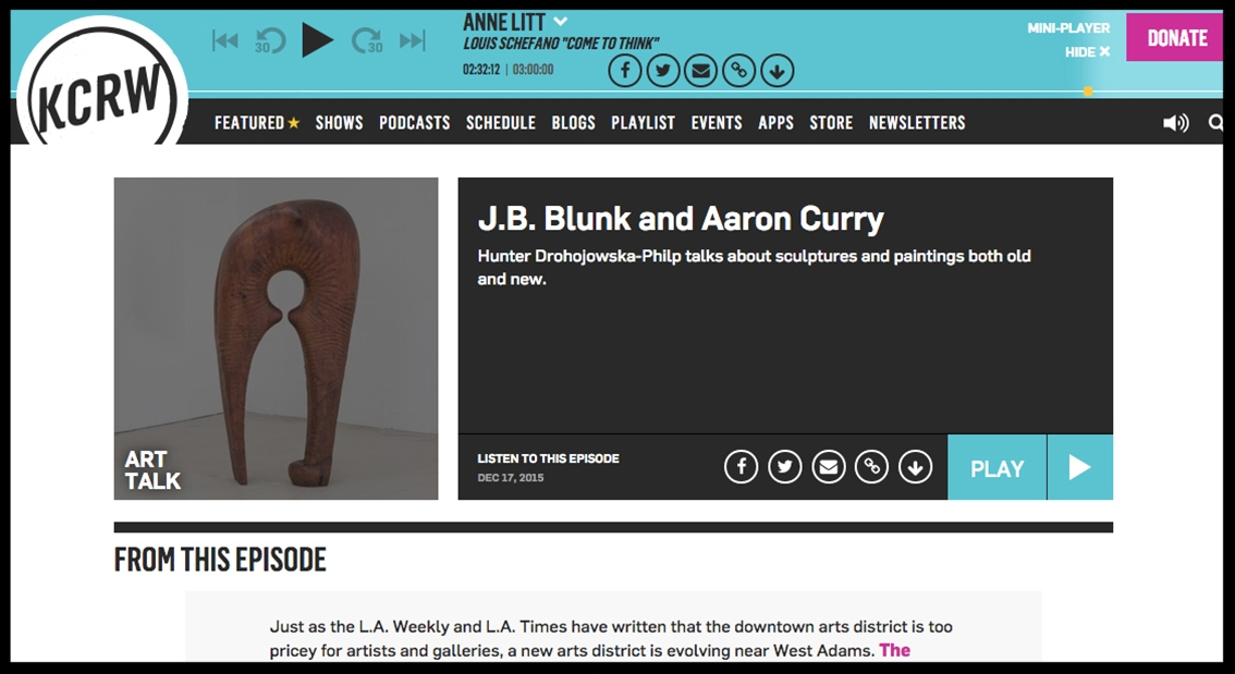 - KCRWJB Blunk and Aaron Curry | Art Talk | KCRW