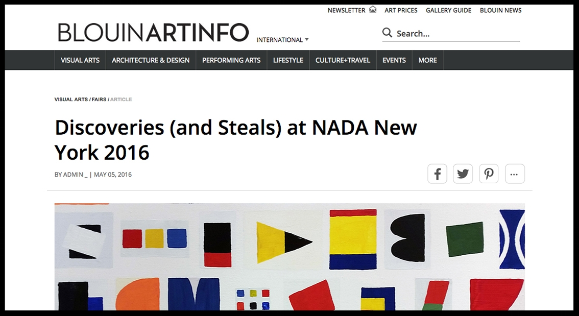 - Blouin Art InfoDiscoveries (and Steals) at NADA New York 2016