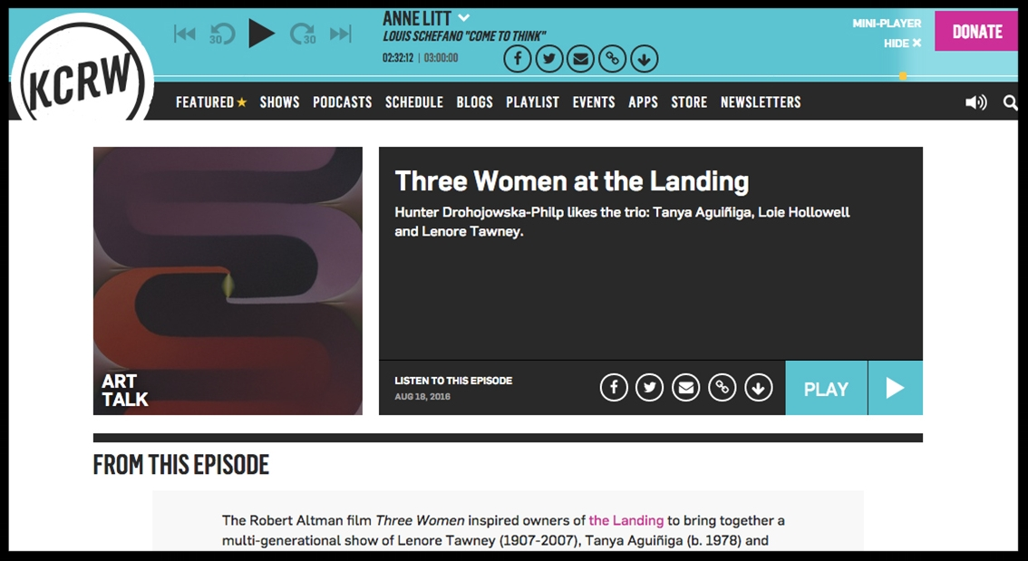 - KCRWThree Women at the Landing