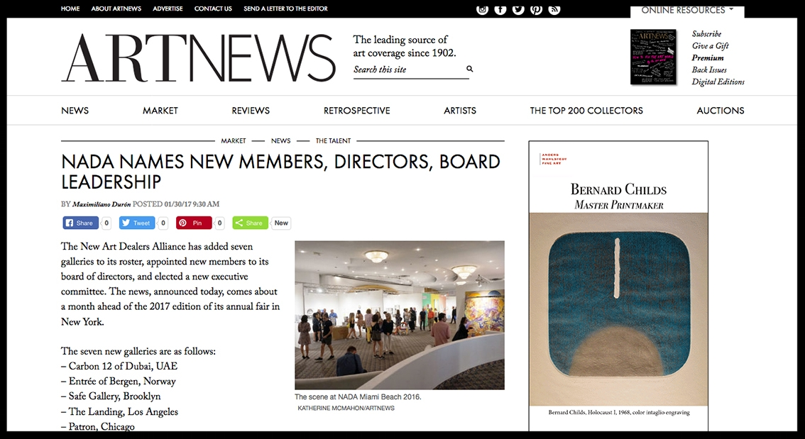 - ArtnewsNADA Names New Members, Directors, and Board Leadership