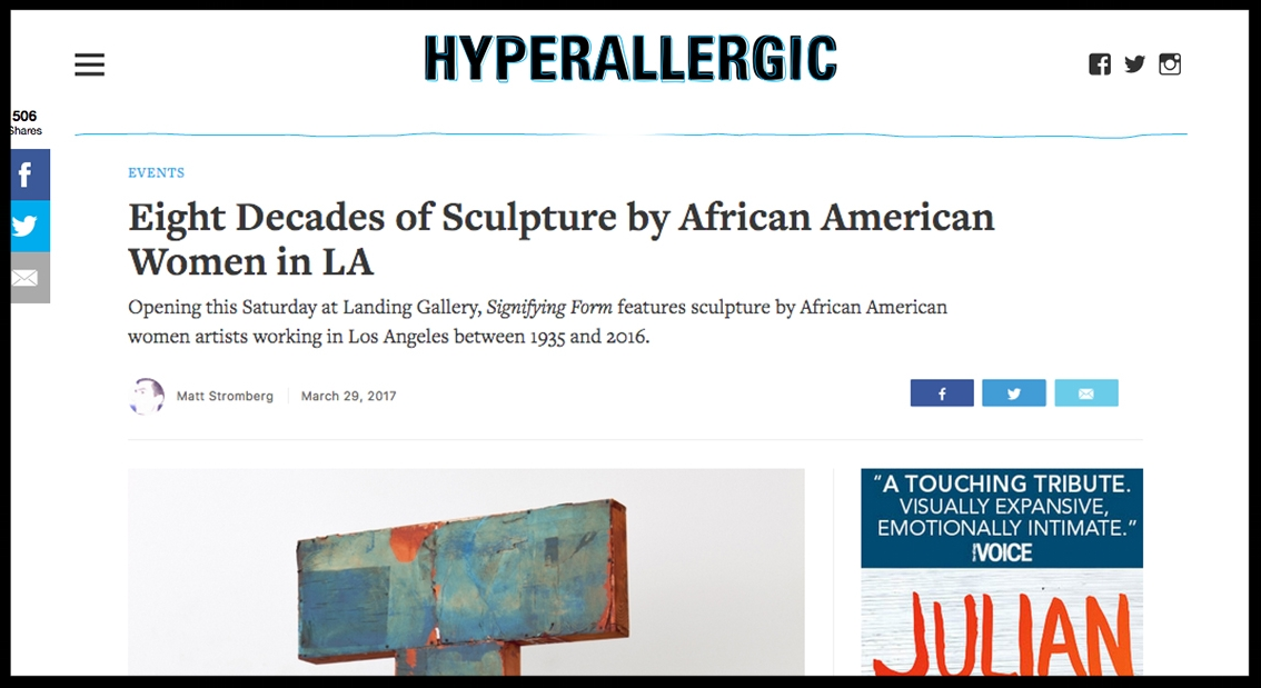 - HyperallergicEight Decades of Sculpture by African American Women in LA
