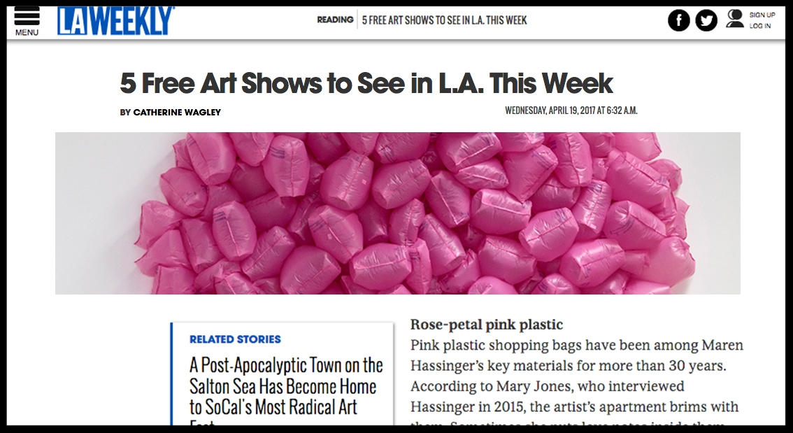 - LA Weekly5 Free Art Shows to See in L.A. This Week
