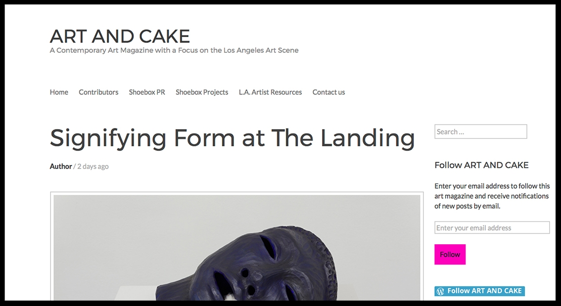 - Art and CakeSignifying Form at The Landing