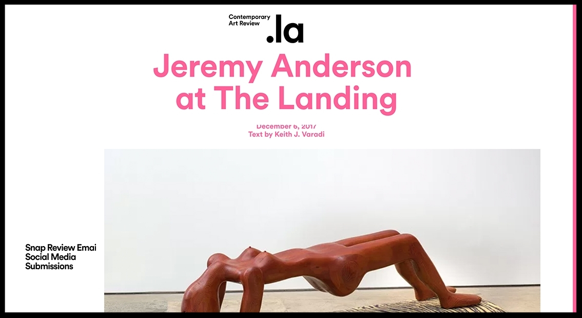- Contemporary Art ReviewJeremy Anderson at the Landing