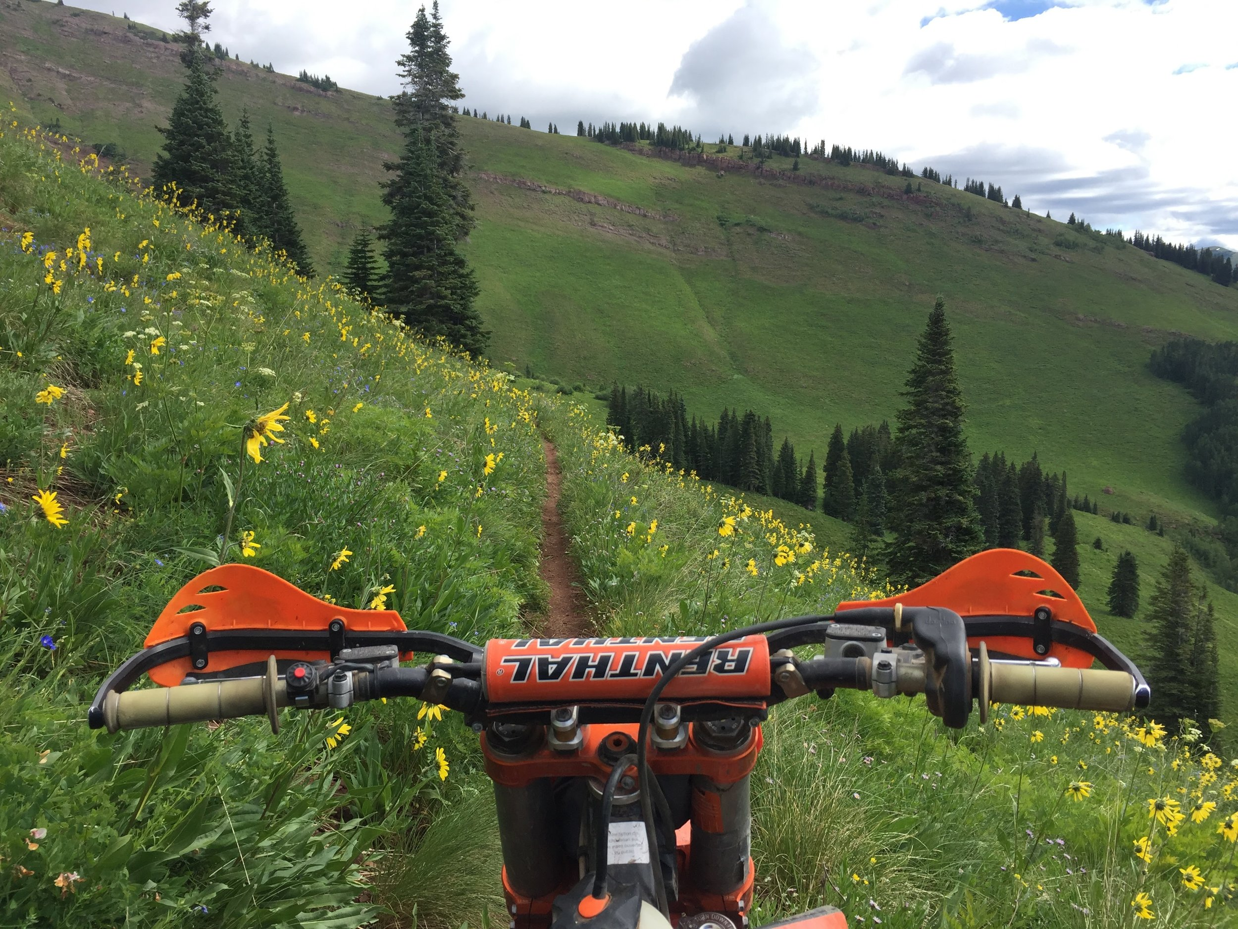 Views and trail like this really close to Crested Butte, Colorado