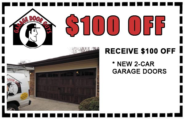 $100 off two car garage doors.PHONE 847-888-8833