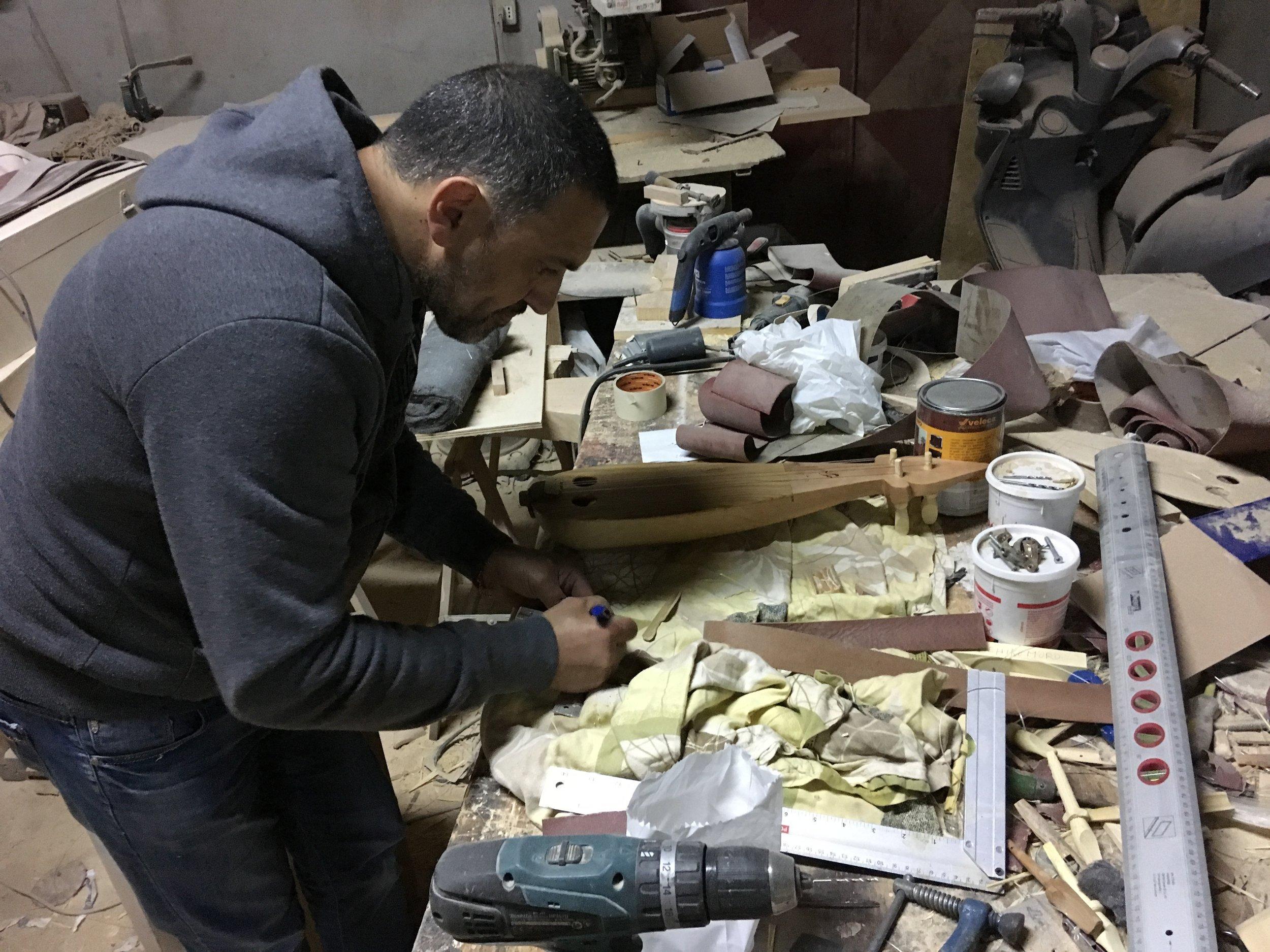 Francesco Siviglia in his laboratory, Bova Marina, Calabria, Italy