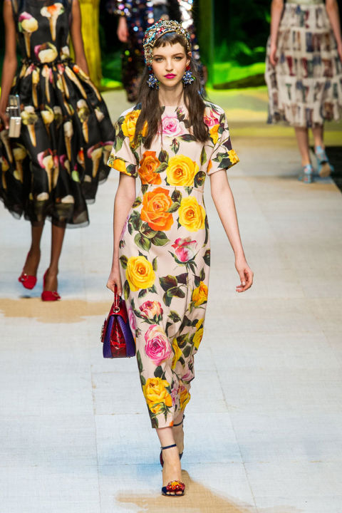 Dolce and Gabbana Floral as seen on the runway for 'SS17