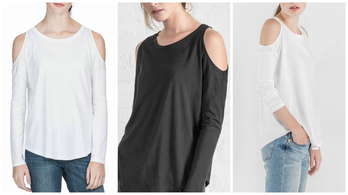 Cotton and comfortable for your everyday lifestyle, cold shoulder tops from Lilla P