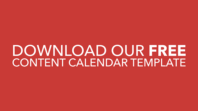 Download Free Content Calendar Template