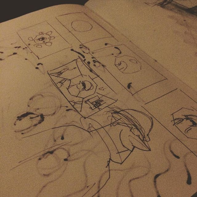 Sketch small, think big. #thumbnails #storyboards #sketchbook