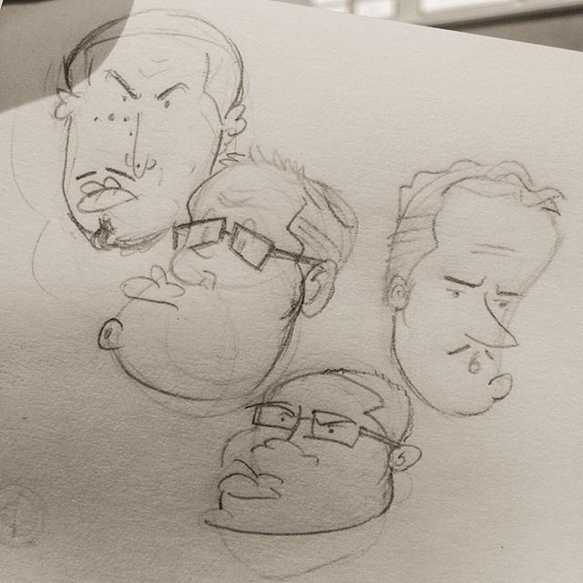 Yep, just a couple of men at the job-site doing what we do. I'm sure y'all can relate. (Sarcastic laugh) #doodle #caricature #sketch #design #picoftheday #getbacktowork #grinding