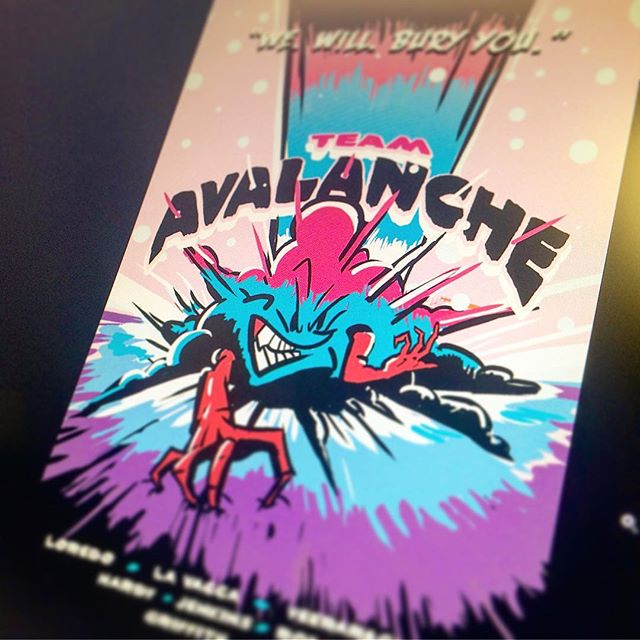 Team building. 😈 #wewillburyyou #design #illustration #poster #avalanche #goteam